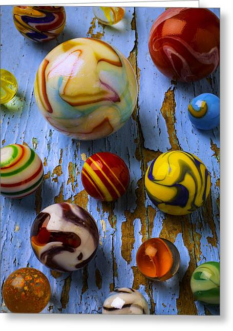 Wonderful Glass Marbles Greeting Card by Garry Gay