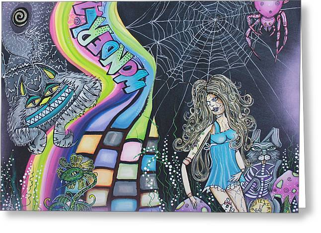 Wonderland Dreams Greeting Card by Laura Barbosa