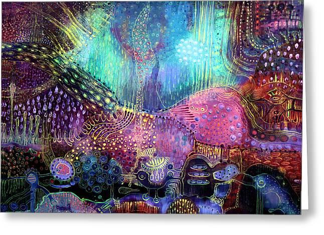 Imaginary World Greeting Cards - Wonderland Greeting Card by Lolita Bronzini