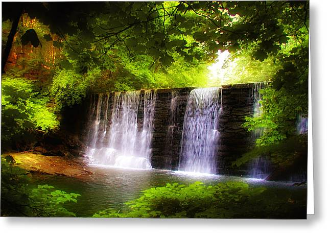 Philadelphia Digital Greeting Cards - Wonderous Waterfall Greeting Card by Bill Cannon