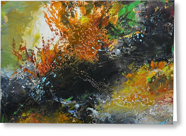 Abstract Expressionist Greeting Cards - Wonders of Coral Greeting Card by Christopher Chua