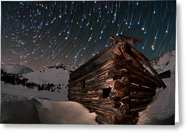 Copyrighted Greeting Cards - Wonders Of The Night Greeting Card by Mike Berenson
