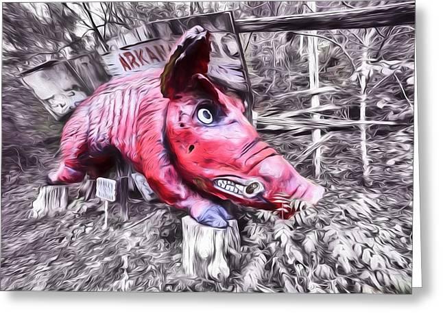 Woo Pig Sooie Digital Greeting Card by JC Findley