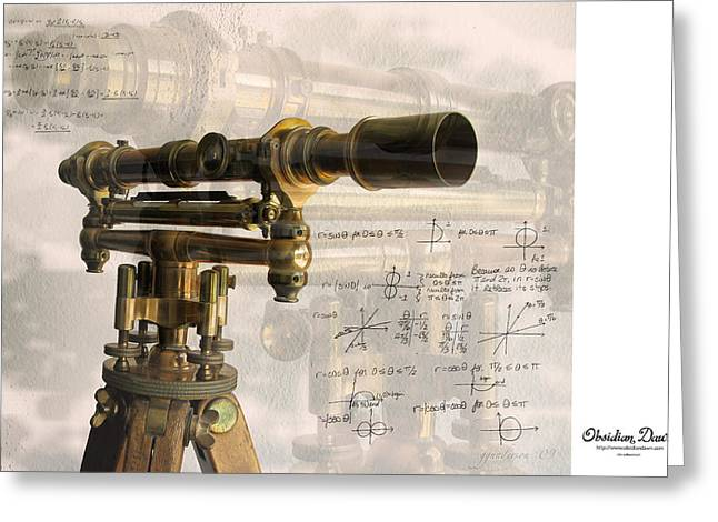 Surveying Greeting Cards - Wood and Brass Transit Greeting Card by Gary Gunderson