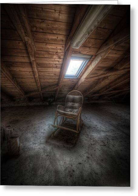 Ruinous Greeting Cards - Wood chair Greeting Card by Nathan Wright