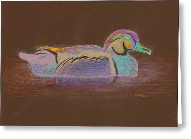 Wood Duck Greeting Card by Cynthia  Lanka