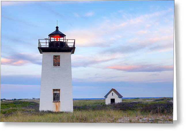 New England Lighthouse Greeting Cards - Wood End Light 2015 Greeting Card by Bill Wakeley