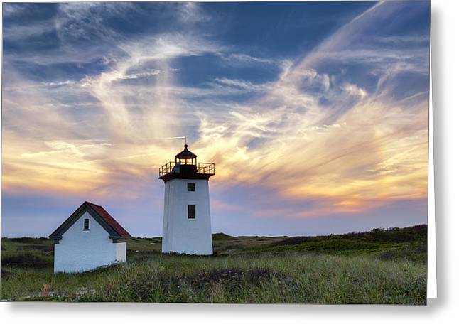Historical Lighthouse Greeting Cards - Wood End Light Greeting Card by Bill Wakeley