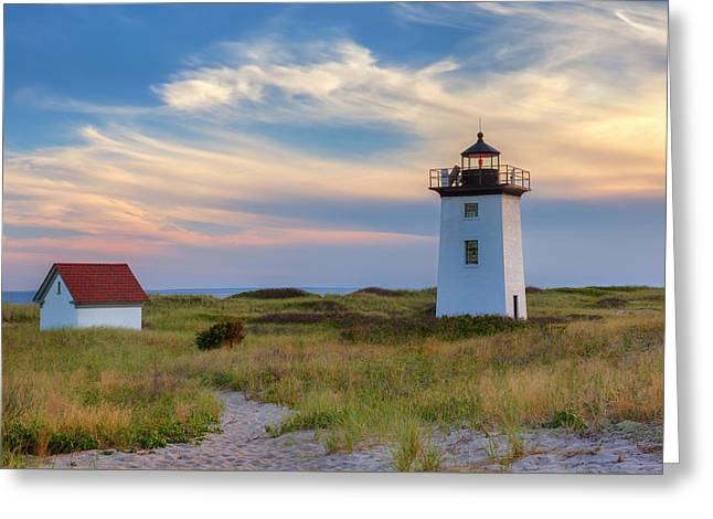 Historical Lighthouse Greeting Cards - Wood End Light Cape Cod Greeting Card by Bill Wakeley