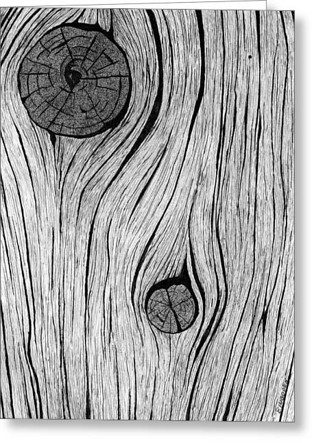 Wood Grain 2 Greeting Card by Ed Einboden