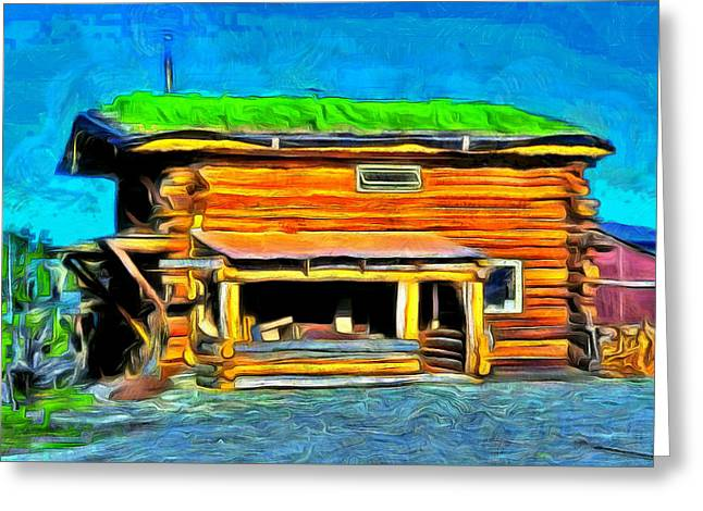 Wood House - Pa Greeting Card by Leonardo Digenio