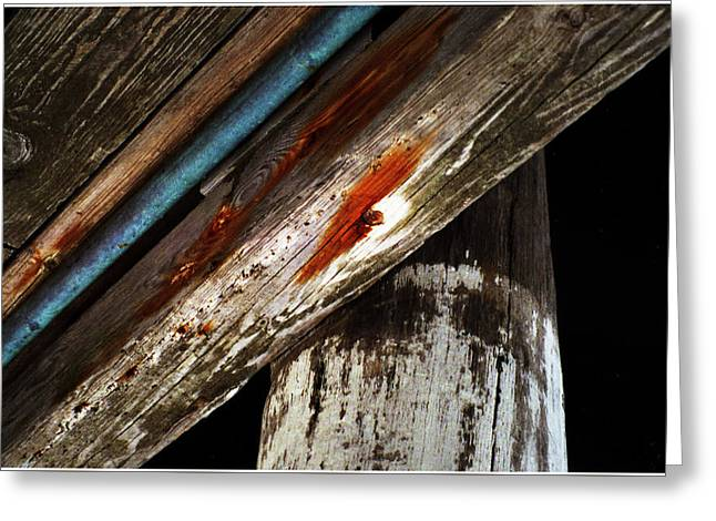Alga Greeting Cards - Wood Planks Greeting Card by Wayne King