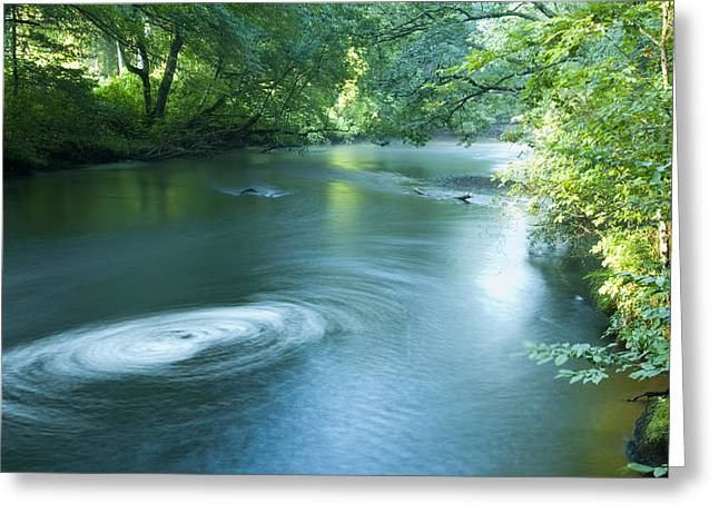Wood River Whirlpool Greeting Card by Steven Natanson