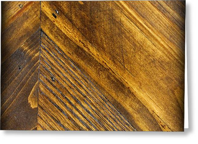 Nature Abstracts Greeting Cards - Wood Square Greeting Card by Karen Adams