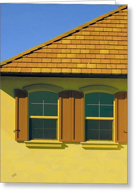 Woodbury Windows No 2 Greeting Card by Ben and Raisa Gertsberg