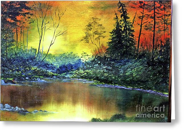 Ebsq Greeting Cards - Wooded Serenity Greeting Card by Dee Flouton