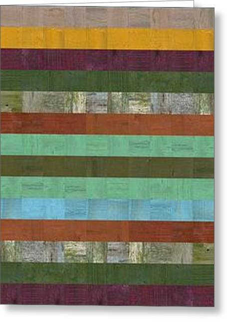 Abstract Style Greeting Cards - Wooden Abstract X  Greeting Card by Michelle Calkins