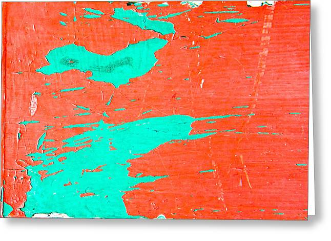 Painted Wood Photographs Greeting Cards - Wooden backgroubnd Greeting Card by Tom Gowanlock