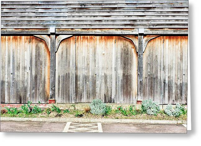 Brown Building Greeting Cards - Wooden building Greeting Card by Tom Gowanlock