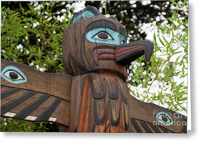 Carved Bird Greeting Cards - Wooden Expression Greeting Card by Dan Holm