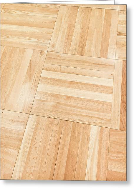 Wooden Floor Panels Greeting Card by Tom Gowanlock