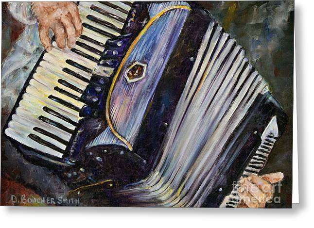 Accordion Greeting Cards - Wooden Heart Greeting Card by Deborah Smith