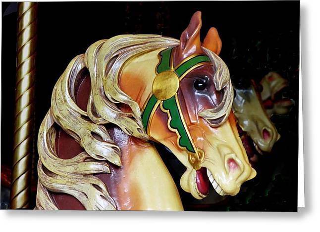 Prospects Greeting Cards - Wooden Horse 1 Prospect Park Greeting Card by Richard Xuereb