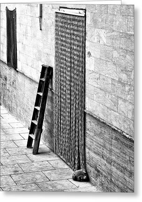 Best Sellers -  - Wooden Stairs Greeting Cards - Wooden Staircase Greeting Card by Marco Moscadelli