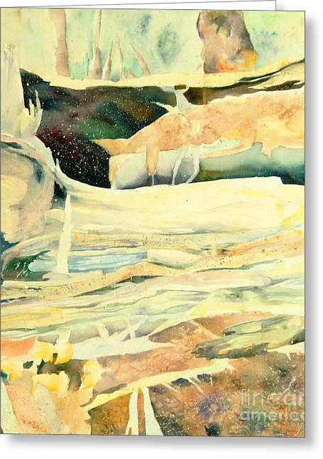 Sea Birds Greeting Cards - Woodland Abstract 3 Greeting Card by Sharon Nelson-Bianco