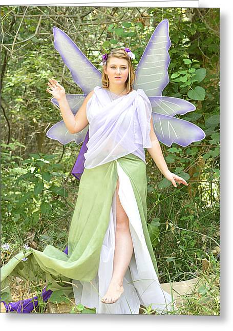 Patch Greeting Cards - Woodland Fairy Greeting Card by Pamela Patch