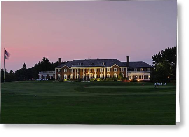 Boston Ma Greeting Cards - Woodland Golf Club of Auburndale Greeting Card by Juergen Roth