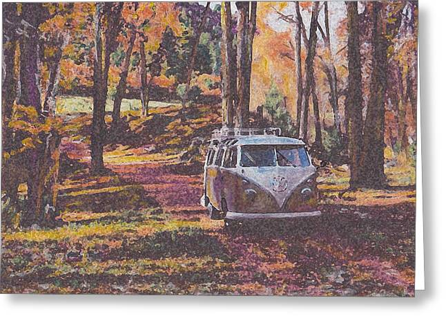 Historic Vehicle Pastels Greeting Cards - Woodland Greeting Card by Sharon Poulton