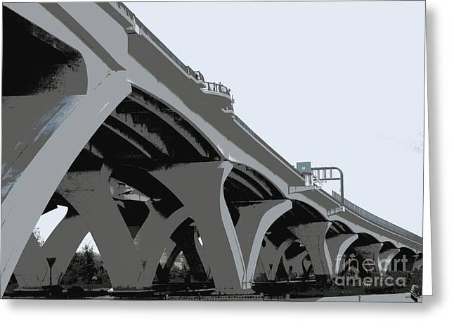 Woodrow Wilson Bridge 1 Greeting Card by Randall Weidner