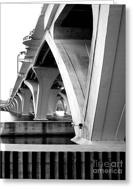 Woodrow Wilson Bridge 10 Greeting Card by Randall Weidner