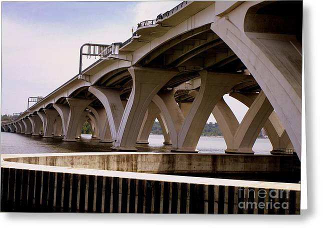 Woodrow Wilson Bridge 11 Greeting Card by Randall Weidner