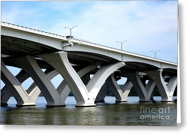 Woodrow Wilson Bridge 4 Greeting Card by Randall Weidner