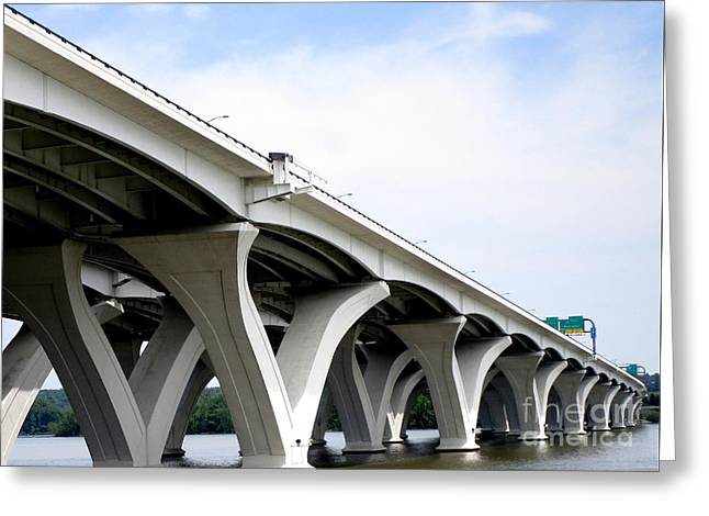 Woodrow Wilson Bridge 5 Greeting Card by Randall Weidner