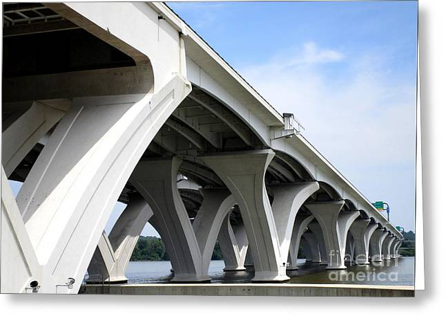 Woodrow Wilson Bridge 6 Greeting Card by Randall Weidner