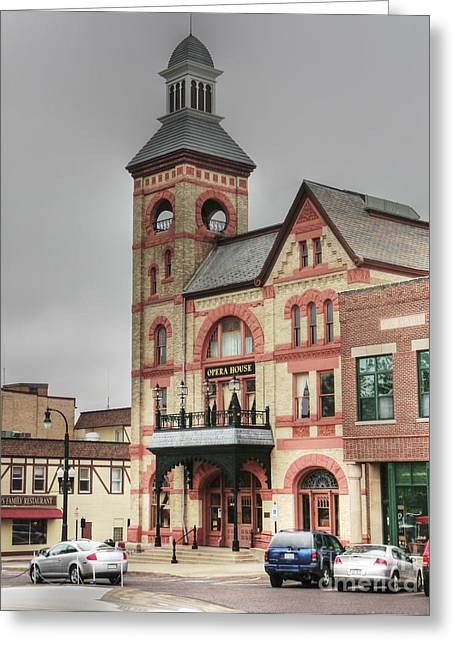 Town Square Greeting Cards - Woodstock Opera House Greeting Card by David Bearden