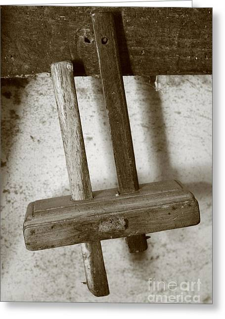 Cooperage Greeting Cards - Woodworking tool Greeting Card by Gaspar Avila