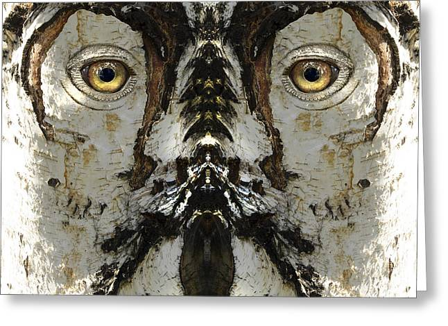 Anthropomorphic Digital Greeting Cards - Woody 159 Greeting Card by Rick Mosher
