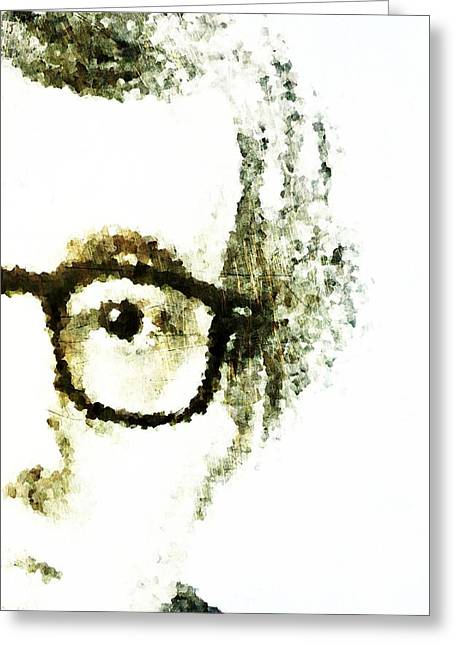 Woody Allen Greeting Cards - Woody Greeting Card by Andrea Barbieri