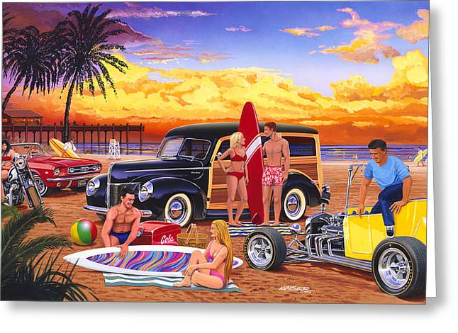 Woodies Greeting Cards - Woody Beach Greeting Card by Bruce kaiser