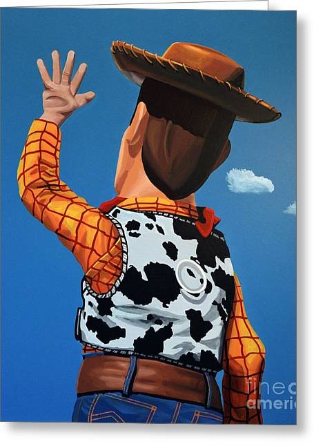 Hank Greeting Cards - Woody of Toy Story Greeting Card by Paul Meijering