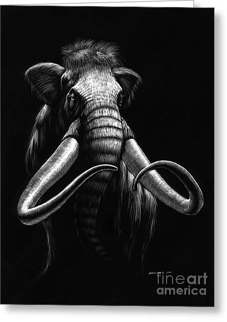 Woolly Mammoth Greeting Card by Stanley Morrison