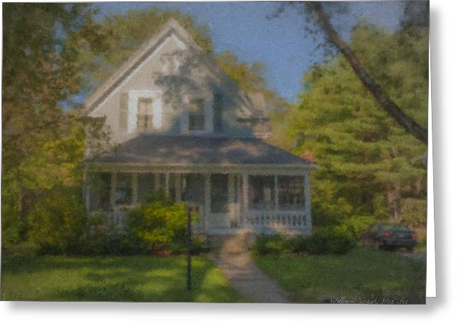 Wooster Family Home Greeting Card by Bill McEntee