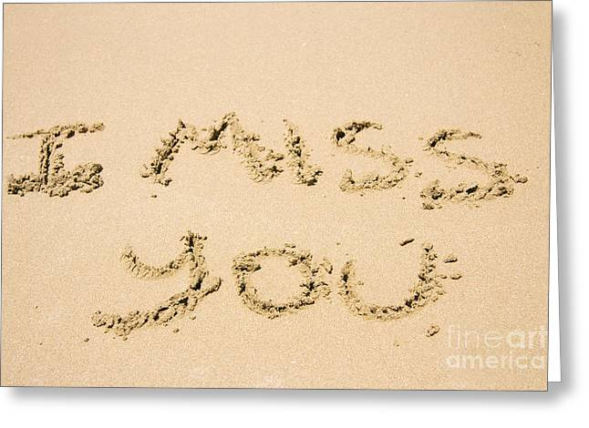 Words Of Loss Greeting Card by Jorgo Photography - Wall Art Gallery
