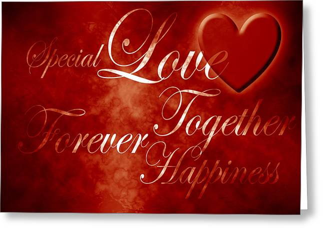 Forever Together Greeting Cards - Words of Love Greeting Card by Phill Petrovic