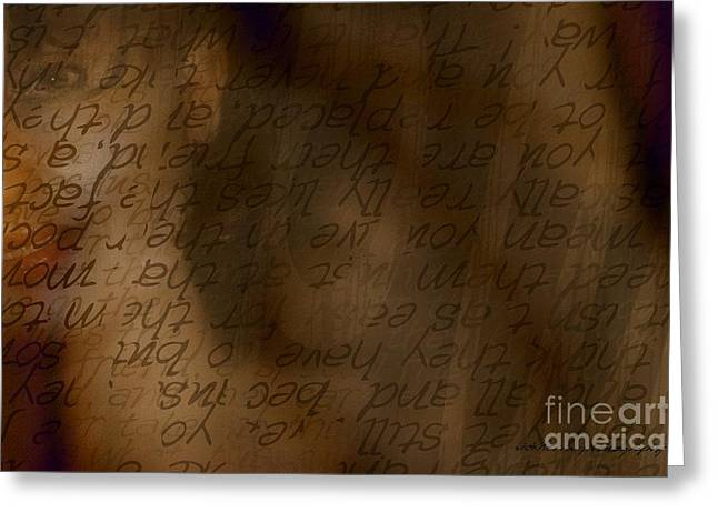 Behind The Scene Greeting Cards - Words Winding Greeting Card by Vicki Ferrari