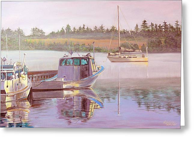 Work And Play Greeting Card by Lorraine Vatcher